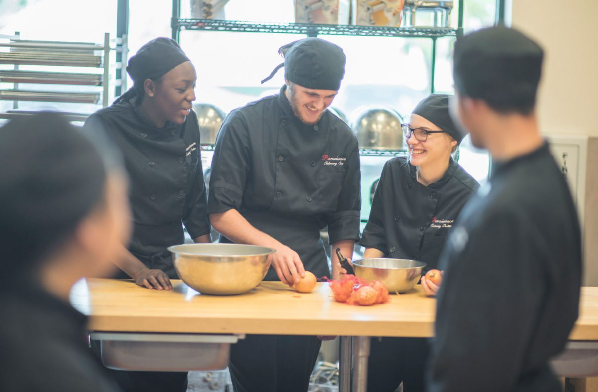 Students in a Kitchen