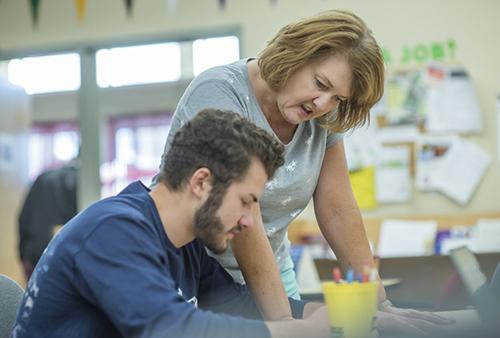 CTE Teacher in the classroom